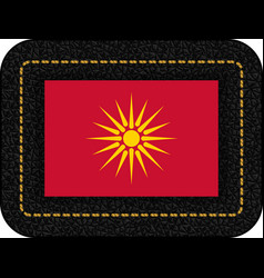 Historical flag of republic of macedonia icon on vector