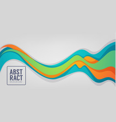Horizontal abstract color flow background vector