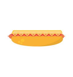 hot dog fast food picnic vector image