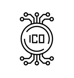 ico data line icon concept sign outline vector image