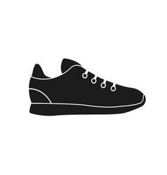 Illstration sneakers icon flat design vector