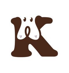 Initial letter k dog vector