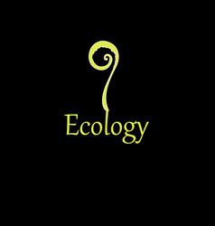 inscription plant ecology vector image