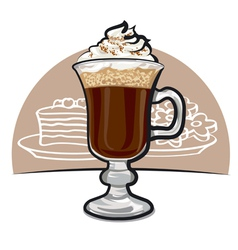 Irish coffee vector