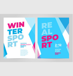 Layout poster template design for winter sport vector