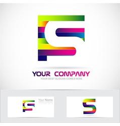 Letter s colors logo vector