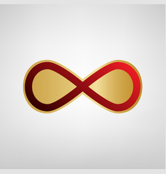 Limitless symbol red icon on vector