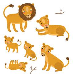 Lion family vector