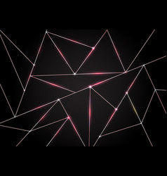 luxury polygonal pattern and pink gold triangles vector image