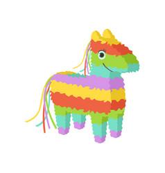 mexican pinata traditional cultural symbol of vector image