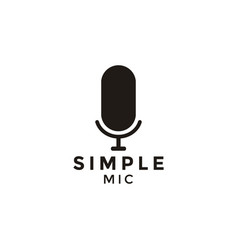 microphone silhouette logo design inspiration vector image