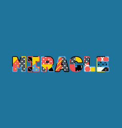 Miracle concept word art vector