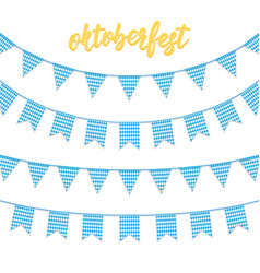 oktoberfest decorations buntings for oktoberfest vector image