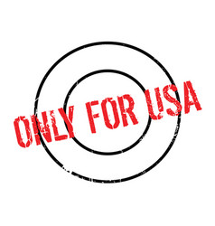 only for usa rubber stamp vector image