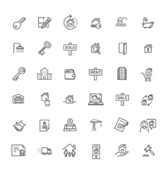 Outline web icons set - Real Estate vector