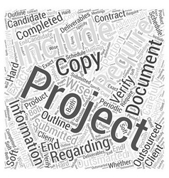 Outsourced not outsmarted word cloud concept vector