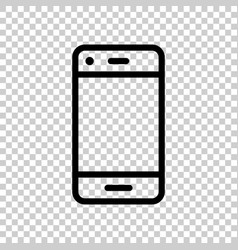 phone device sign icon in transparent style vector image