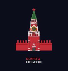 pixel art - russia moscow vector image