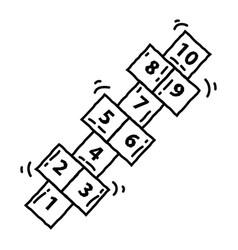 playground kids hopscotch vector image