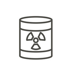 Radioactive barrel icon line toxic waste s vector
