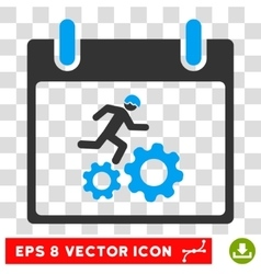 Running Worker Calendar Day Eps Icon vector