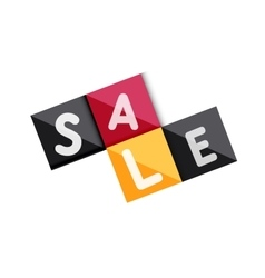 Sale word label banner vector image