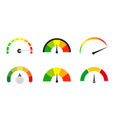 satisfaction meters scale set vector image