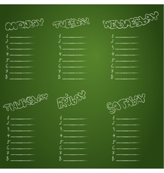 School schedule School timetable vector image