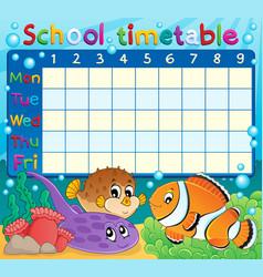 School timetable theme image 6 vector