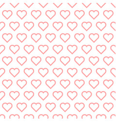 Seamless background hearts vector