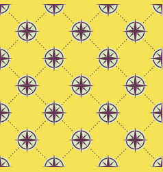 seamless nautical pattern with rose of wind vector image
