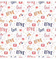 Seamless pattern with big collection love vector