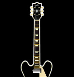 semi acoustic rock guitar vector image