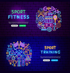 sport items banners vector image