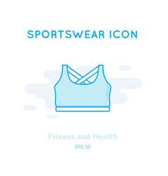 Sport top icon isolated on white vector