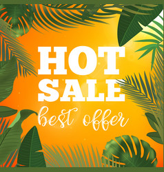 summer sale banner with vector image