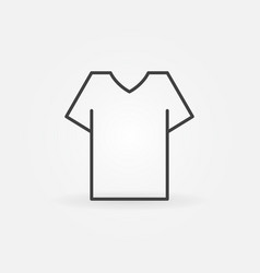 t-shirt line icon - shirt outline sign vector image