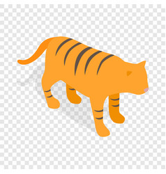 Tiger isometric icon vector