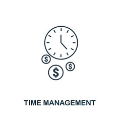 time management icon thin line style symbol from vector image
