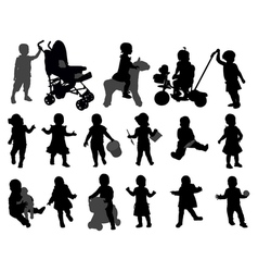 toddlers vector image