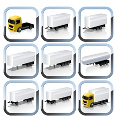 Truck Trailaers Icons Set vector