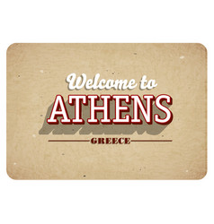 welcome to athens vector image