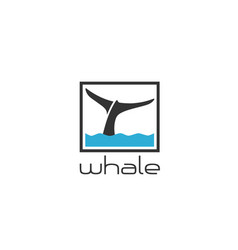 whale-logo vector image