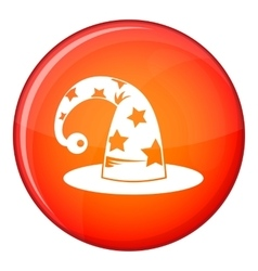 Wizards hat icon flat style vector