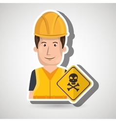 worker symbol danger vector image