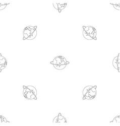 worldwide pattern seamless vector image