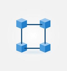Flat blockchain blue icon vector