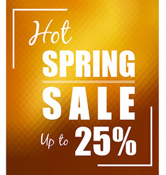 Hot Spring Sale up to 25 over polygonal mosaic vector image vector image