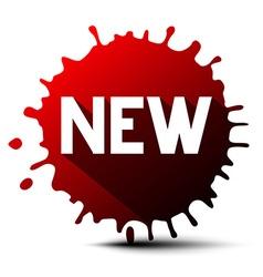 New Title on Red Splash - Blot vector image