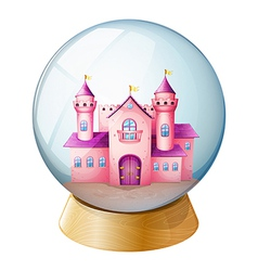 Pink Castle Crystal Ball vector image vector image